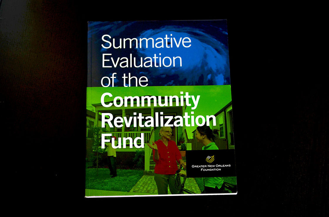 GNOF Community Revitalization Fund Report 1