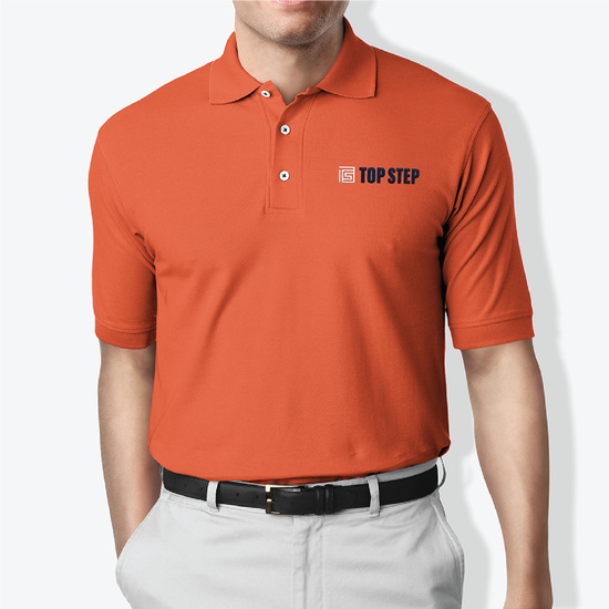 Top-step_polo-orange