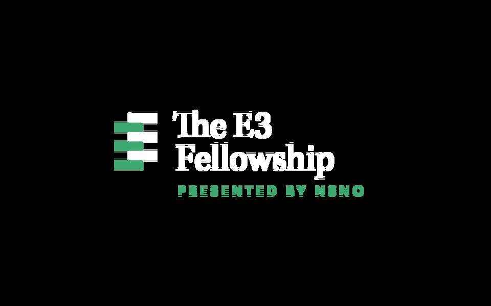 NSNO E3 fellowship logo inline on gray