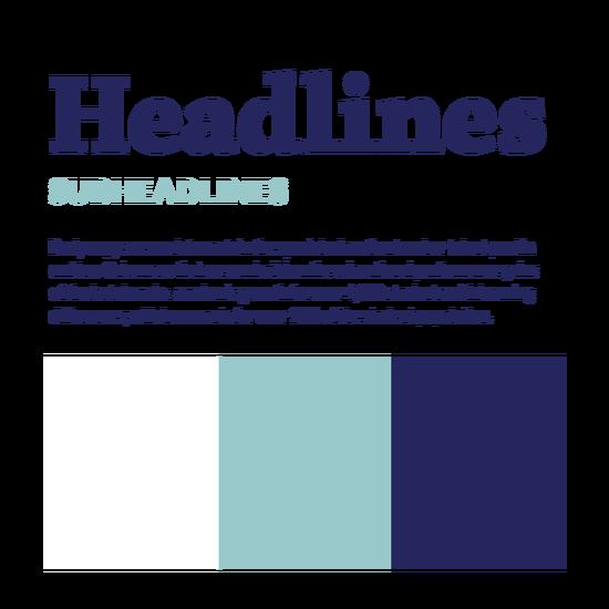 SELF identity fonts colors