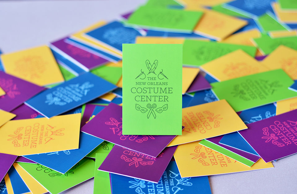 NOLA Costume Center Business Card