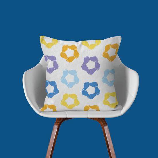 Kinship Pillow Dk Blue