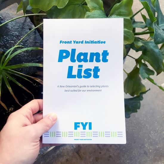 Front Yard Initiative Plant List Cover