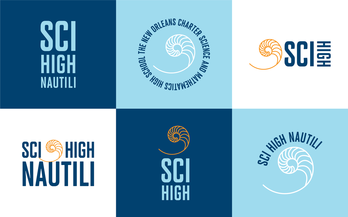 Sci High Logos Icons on Colors