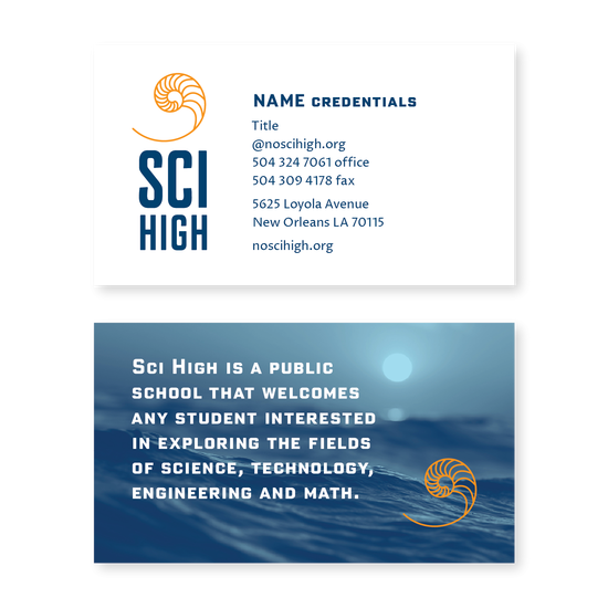 Sci High Business Card