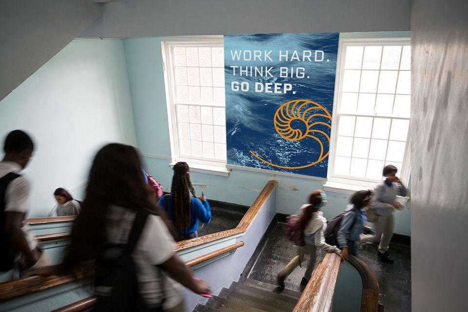 Sci High Hallway Banner