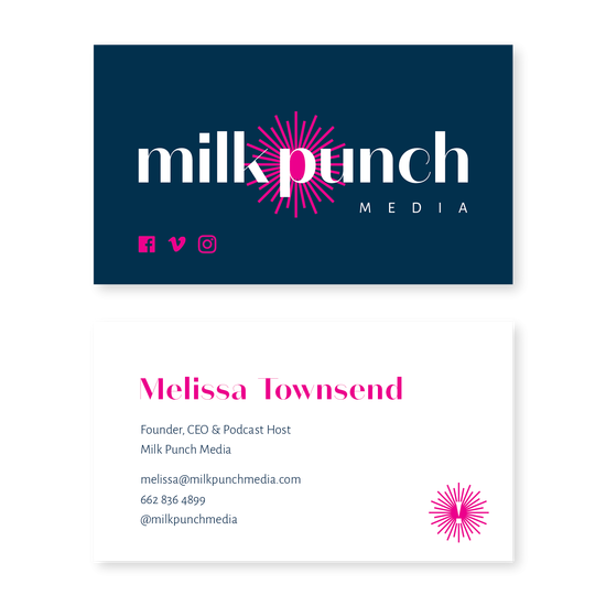 Milk Punch Business Card Tag Line